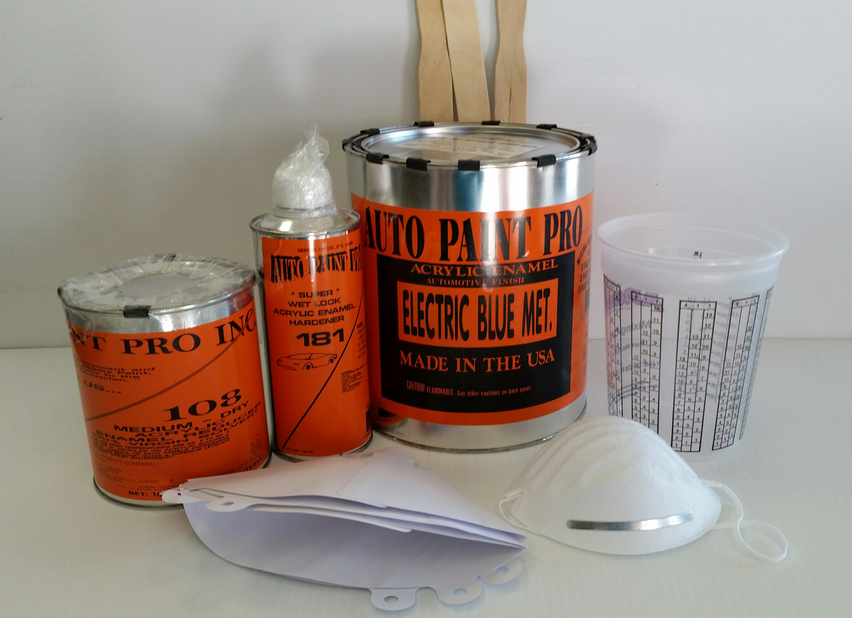 Electric Blue Acrylic Enamel Auto Paint restoration car paint